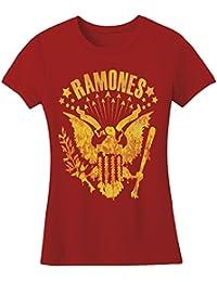 Ramones–de mujeres Eagles Vino de lectura–Camiseta en rojo oscuro