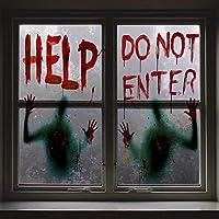 Lot de 2 affiches géantes pour fenêtre de Angshop sur le thème d'Halloween.