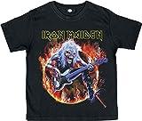 Iron Maiden Eddie Bass T-Shirt schwarz 140