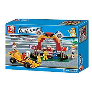 SLUBAN BRICKS, Town Formula Car F1 Podio 149 pzs Juegos de construcción (AJ 1)