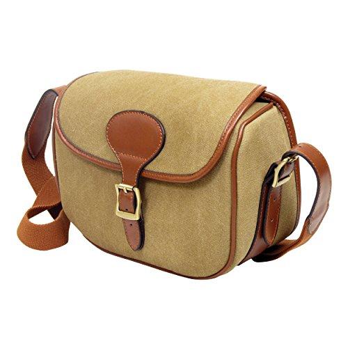 Guardian Heritage Kartusche Bag, 125Kapazität Leder oder Leinwand, Messing Fittings Braun - Heritage Canvas