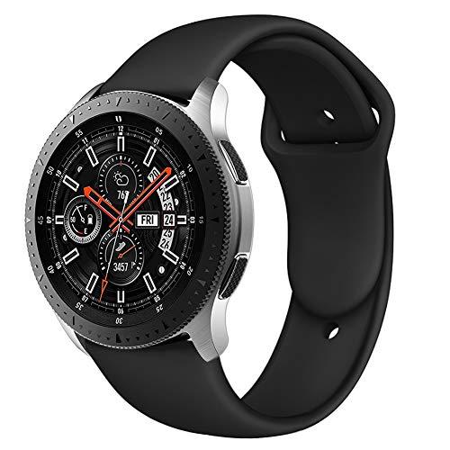 Latband Sport Armband kompatibel mit Samsung Galaxy Uhr 46mm/ Gear S3 Classic Frontier, 22mm weiches Silikon Ersatzarmband ist kompatibel mit Samsung Galaxy Uhr,SM-R800NZSAXAR Smart Fitnessuhr - 46 Silikon