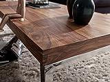 FineBuy Massiver Couchtisch Java 120 x 60 x 40 cm Sheesham Massiv Holz Tisch | Design Wohnzimmertisch aus Massivholz | Beistelltisch Rechteckig Braun - 3