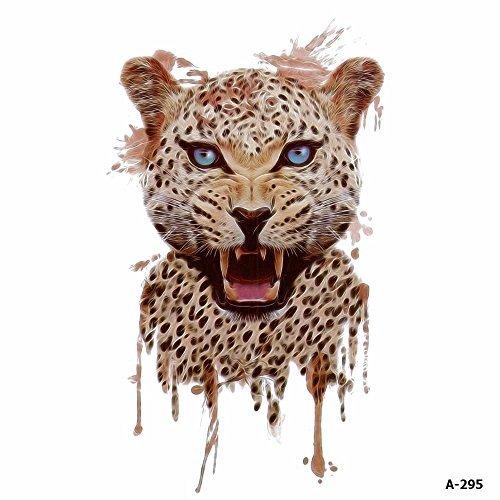 Sie Eigene Katze Erstellen Ihre Kostüm - WYUEN 5 Blätter Aquarell Leopard Tattoo Wasserdicht Temporäre Tätowierung Aufkleber für Frauen Männer Gefälschte Körperkunst 9,8X6 cm A-295