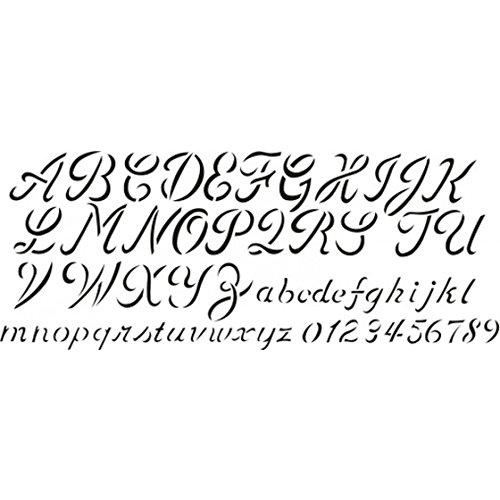 Delta Schablone x1 13x32cm Schreibschrift Alpha.