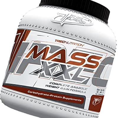 Mass Builder - Mass XXL 2kg (strawberry) - Complete Anabolic Weight Gain Formula - Rapid increase of muscle mass - Carbohydrate and whey protein complex (19% protein) with vitamins - Trec Nutrition by MagicSupplements