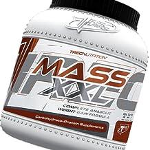 Misa Builder - MASS XXL 2kg - Completa anabólicos aumento de peso Formula - Rápido aumento de la masa muscular - Carbohidratos y complejo de proteína de suero (19% de proteína) con vitaminas - Trec Nutrition (chocolate)