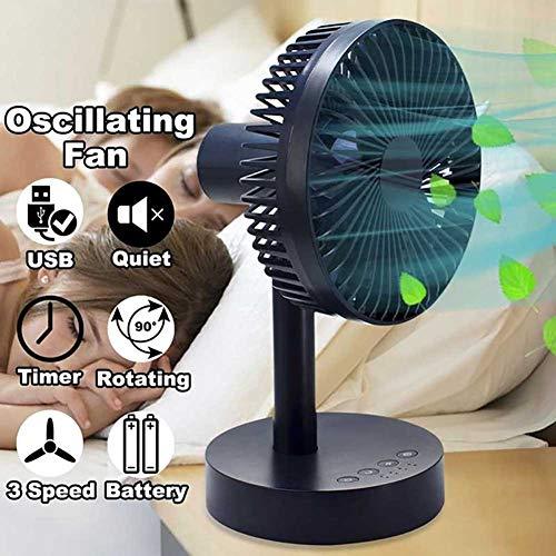 CNNFan Portable Tischventilator Swing Fan Timer/USB Aufladen/3 Wind Geschwindigkeit Ventilator für Outdoor Reisen Und Zuhause