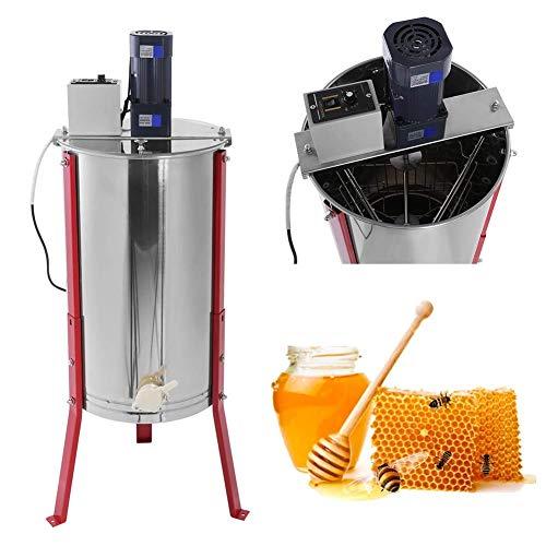 TUDIO Honigschleuder Manuell 3-Waben Lebensmittelechter Edelstahl Honig-Extraktor für Bienenzucht Bee Einklang