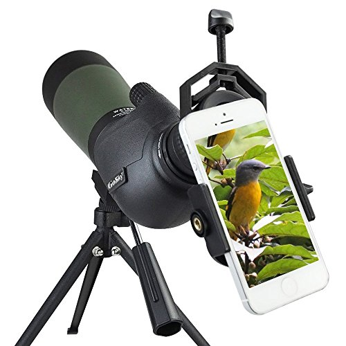 Gosky Telescopio Terrestre 20- 60X 80 Spotting Scope, Con Zoom Resistente al...