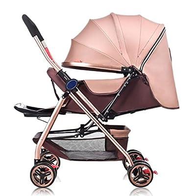 Carro De Bebé Ultraligero De Cuatro Ruedas Plegable Portátil De Dos Vías Empuje Para Sentarse Lie Trolley Cochecito De Bebé