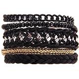 Morella Bracelet style Ibiza/brésilien, différents modèles au choix -  noir -  taille unique