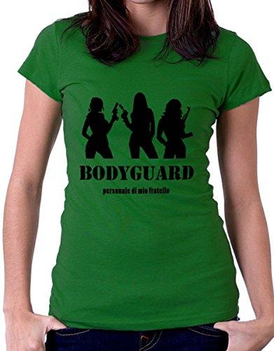 """t-shirt Fratello e sorella humor """" Bodyguard personale di mio fratello"""" - maglietta by tshirteria verde"""