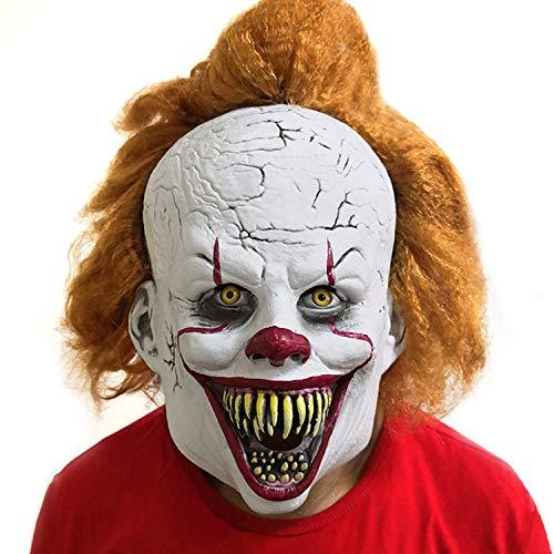 ZSLZ Horror Maske, Lustige Requisiten Für Halloween Latex Kopf Party Dekoration Masken Horror Prop Gesichtsmaske (Wirklich Gruselige Halloween Kostüm)