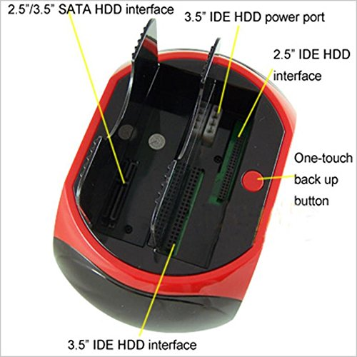 Multifunctional HDD Dock Support 2.5' & 3.5' inches IDE&SATA/e-SATA/USB interface/2-port USB HUB/Card Reader/