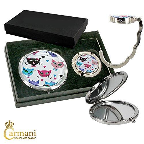 carmani-metallo-tasca-compatto-specchia-con-sacchetto-di-mano-del-gancio-hanger-gatto