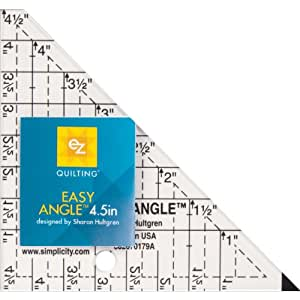 EZ Quilting 4.5-inch Easy Angle Acrylic Template