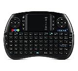 Mini Clavier Sans Fil Rétroéclairé avec Touchpad pour Xbox 360, Freebox, Box Android TV, PC, Smart TV, Raspberry Pi, PS3, Vidéo-Projecteur