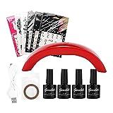 Kit di Lampade LED per asciugatrice per unghie con 4 gel UV 6 adesivi per unghie 9W