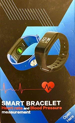 SMART BRACELET-BRACCIALETTO SPORTIVO- HEART RATE AND BLOOD PRESSURE (NERO)