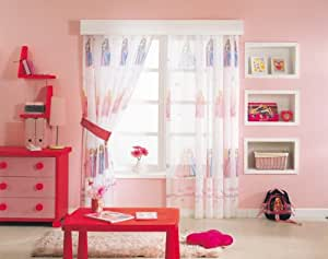 gardine barbie prinzessin 1 teil 116b x 210l kinderzimmer. Black Bedroom Furniture Sets. Home Design Ideas