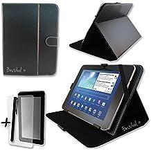 Nero PU copertura di schermo e supporto per Arnova 9G2& G324,6cm pollici Tablet + pellicola proteggi schermo e penna stilo