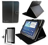Produkt-Bild: Schwarz PU Leder Cover Case Protector & Ständer für Wortmann Terra Pad 1001/100224,6cm Zoll Tablet PC + Displayschutzfolie und Eingabestift