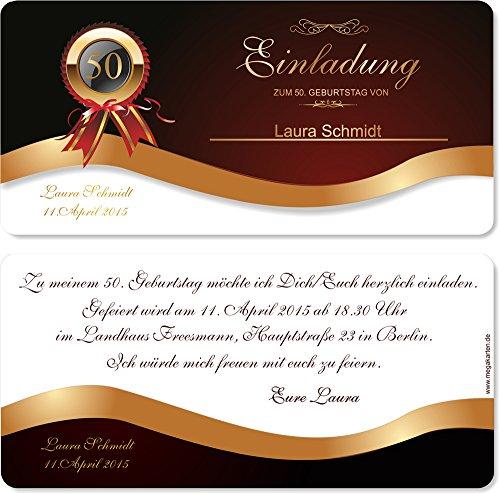 Einladungskarten zum Geburtstag! 30 Stück
