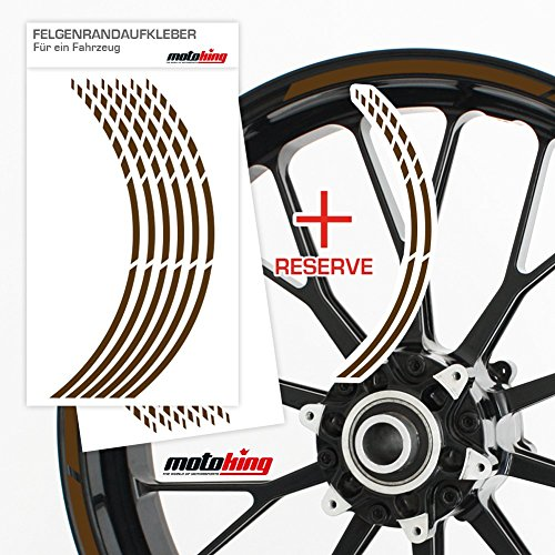 Felgenrandaufkleber GP im GP-Design passend für 17 Zoll und 16