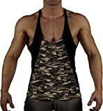99GYM Version2 MOSTMUSCULAR Cut Bodybuilding Stringer Muscle Muskel Shirt (L, Kontrast - Classic-Army)