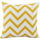 Generic Cama Inicio Alquiler Sofá decorativo ondulada Patrones almohada cubierta de la caja del amortiguador (amarillo)