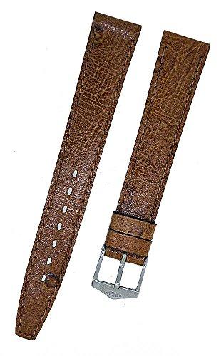 FORTIS Uhrenarmband LEDER Braun mit brauner Naht 14mm NEU 8798