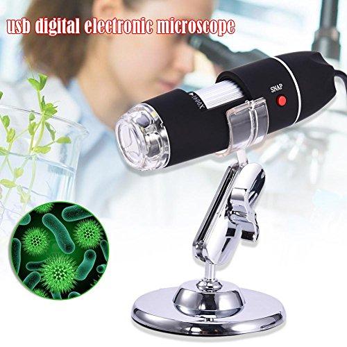 Sroomcla Microscopio USB 1600x, Microscopio Digitale, Fotocamera da 2 MP Ricaricabile, Microscopio per Bambini Endoscopio HD, per iPhone/iPad/Telefono Android/Windows.