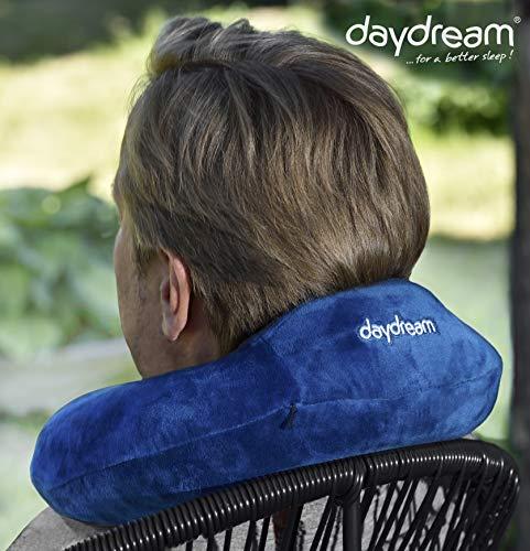 daydream: Reise-Nackenkissen mit Kopfstütze aus Memory Foam, verschiedene Farben (N-5360), Nackenhörnchen, Reisekissen, Nackenstützkissen