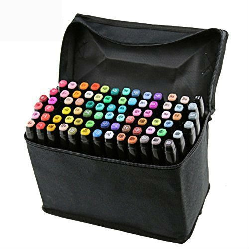Vococal 80 Piezas Marker Pen Colors Rotuladores Pluma,Doble-punta(1mm/6mm)...