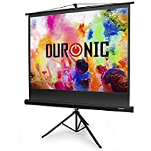 Duronic (Renewed) TPS60 /43 Brilliant Matt White 60in Portable Tripod Projector Screen for | School | Theatre | Cinema | Home | Projection Screen