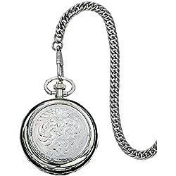 Montana Silversmiths WATCHP10 Montana Time Analog Display Quartz Pocket Watch