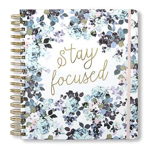 Tri-Coastal Design - Agenda 17 Monate 2020 Täglich mit Wochenplaner - Hard Cover Durable - Elegant dekoriertes Cover (stay focused)