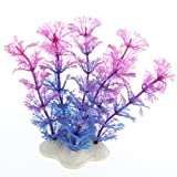 Kunstpflanze 10CM Aquarium Dekoration Wasserpflanze violett+blau TOP