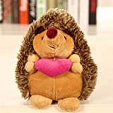 WDTong 18 cm Nette Reizende Weiche Igel Tier Puppe, Plüschtier, Home Hochzeit Spielzeug Für Kinder Kind Geschenk (B)