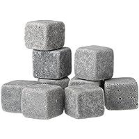 Anself 9pcs Birra di raffreddamento del cubi ghiaccio bevande Whisky pietre rocce di granito Pouch - Ice Stone