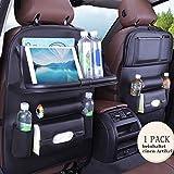 Jiadi Si Auto Rückenlehnenschutz, Autositzorganisator/Rücksitzplaner und iPad-Mini-Halter, Wasserdicht Autositz Organiser,faltbarer Esstisch für Kinder Aufbewahrungstaschen(1 Stück)