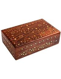 ITOS365 Handmade Wooden Jewellery Box for Women Jewel Organizer Flower Décor…