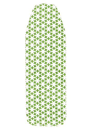 AquaPur Bügeltischbezug Grün/Weiß Bügeltisch Bügelbrett Bezug 110-126 x 30-44 cm