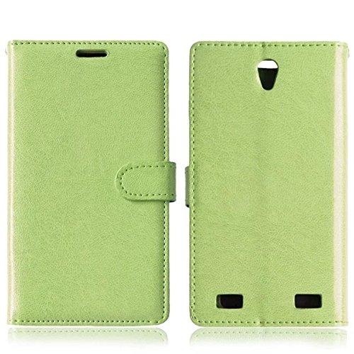 Solid Color PU-Leder-Kasten mit Silikon-Abdeckung Magnetic Kickstand Case für ZTE ZMax2 Z958 ( Color : Rose , Size : ZTE ZMax2 Z958 ) Green