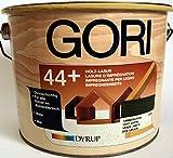 Gori 44 + Holzlasur / Holzschutzlasur , Farbton Tannengrün 5510 , 2,5 L , für jedes Holz im Aussenbereich , mit UV-Schutz