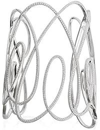 APM Monaco–maduro pulsera plata de ley Circonita 6cm diámetro ab3038ox de m