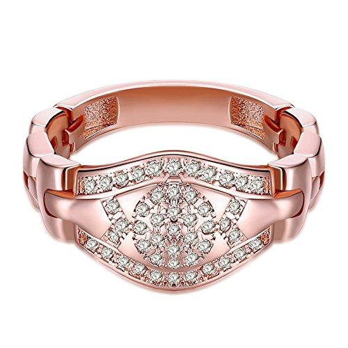 Aeici Kupfer Ring für Damen Roségold Kristallkrabbe Geformt Größe60 (19.1) (Geformt Daumen)