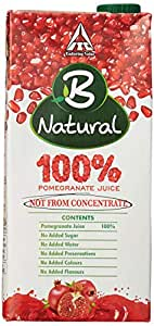B Natural 100% Pomegranate Juice, 1L