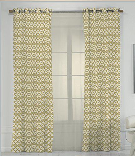 Cortina amarilla estampada 270x140 cm